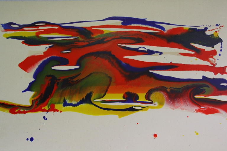 the pigments have created wild life in action