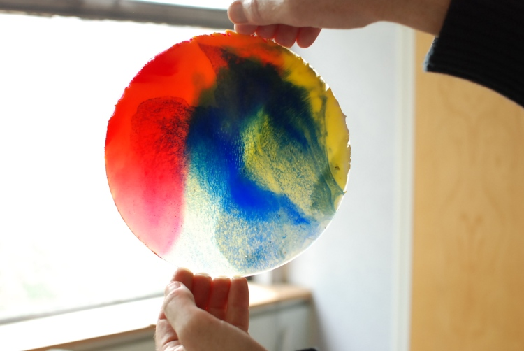 captured and frozen pigments