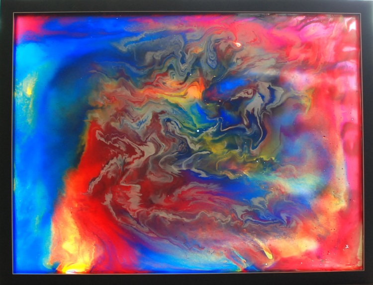 oil on glass